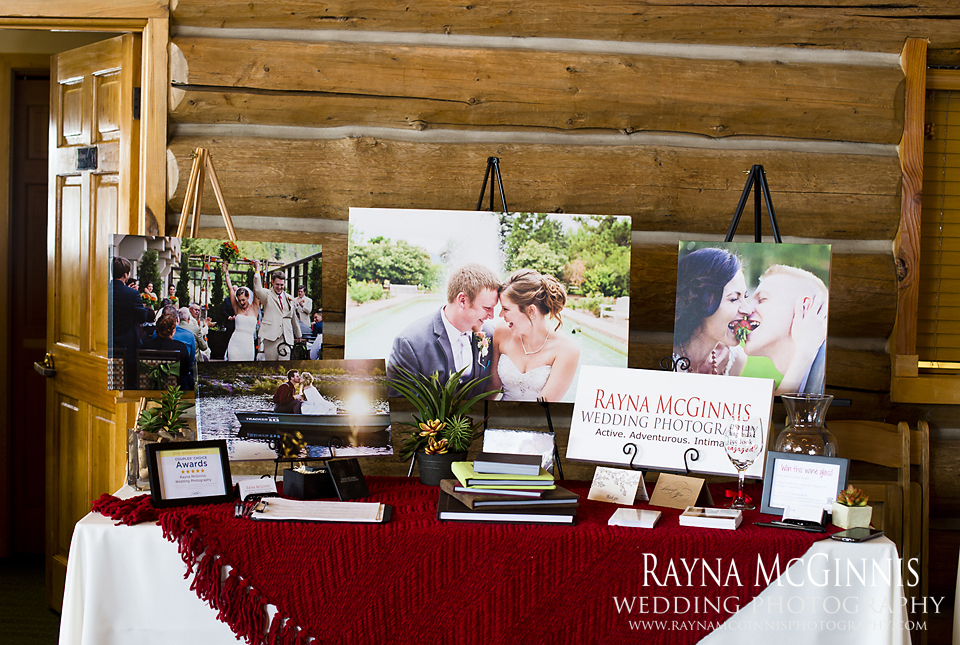 Rayna McGinnis Photography set up at the Evergreen Lake House Bridal Show