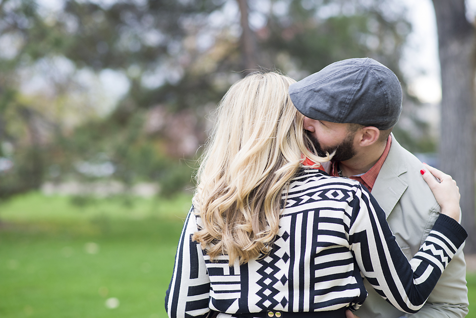 Denver City Park Engagement Pictures- Ear Whispers