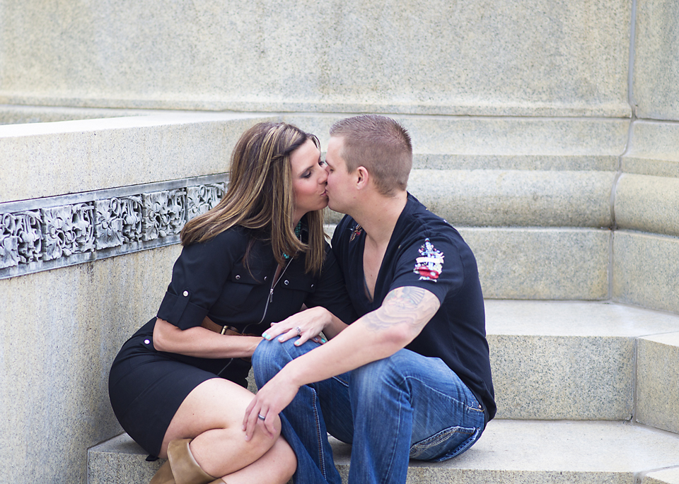 Denver Engagement Photography Session Kisses