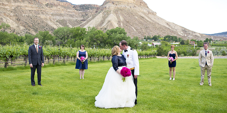 Palisade Wedding Photographer Amy and Tom Canyon wind Cellars - Bridal Party