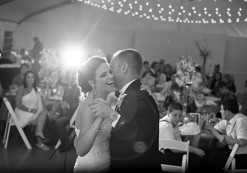 Hudson Gardens Wedding Pictures - First Dance at the Welcome Tent