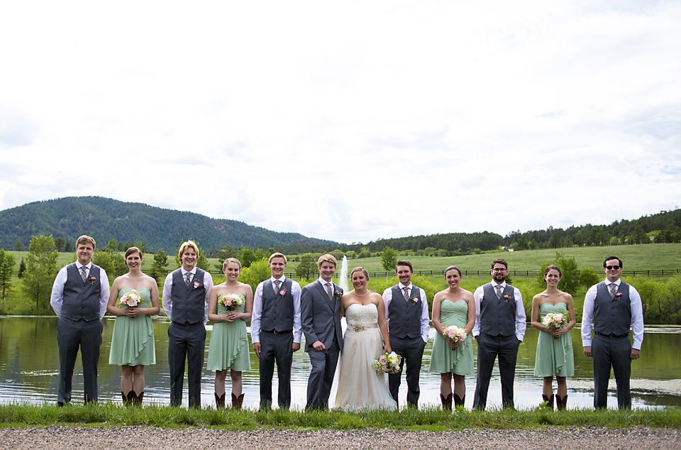 Bridal Party at Spruce Mountain Ranch