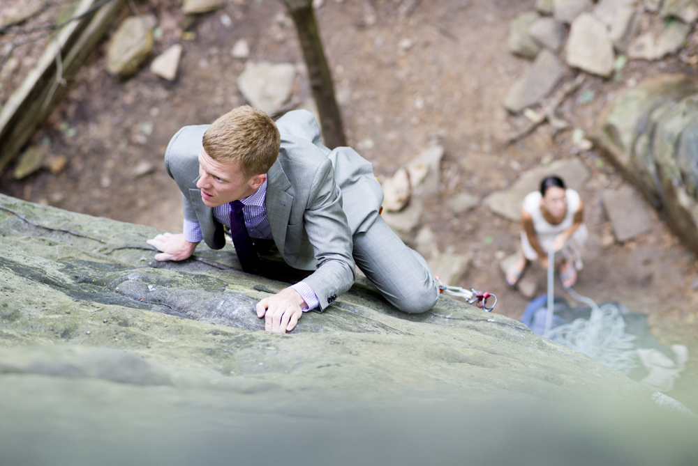 New River Gorge Rock Climbing Wedding at the Bridge