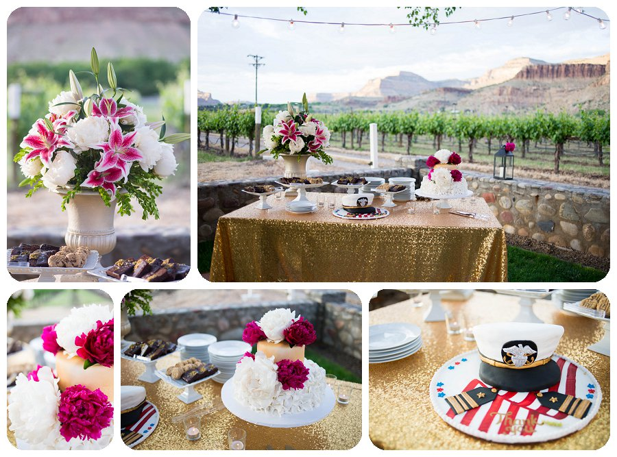 Cake Table at Canyon Wind Cellars in Palisade