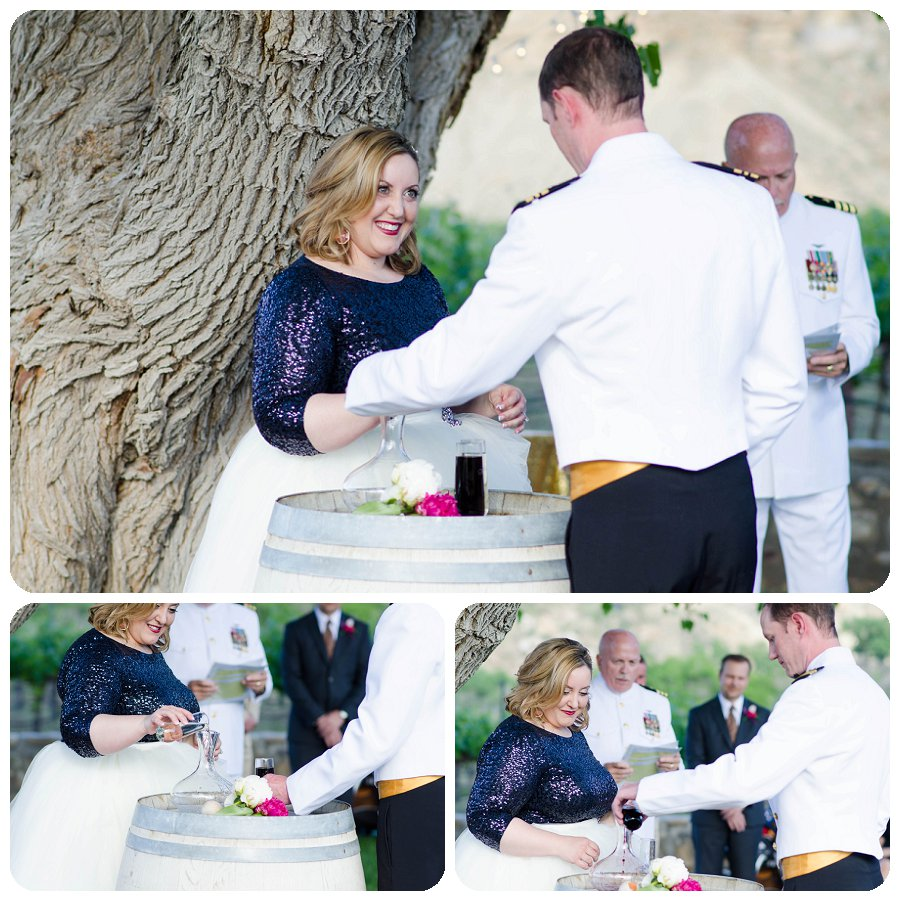 Wine Ceremony at Canyon Wind Cellars