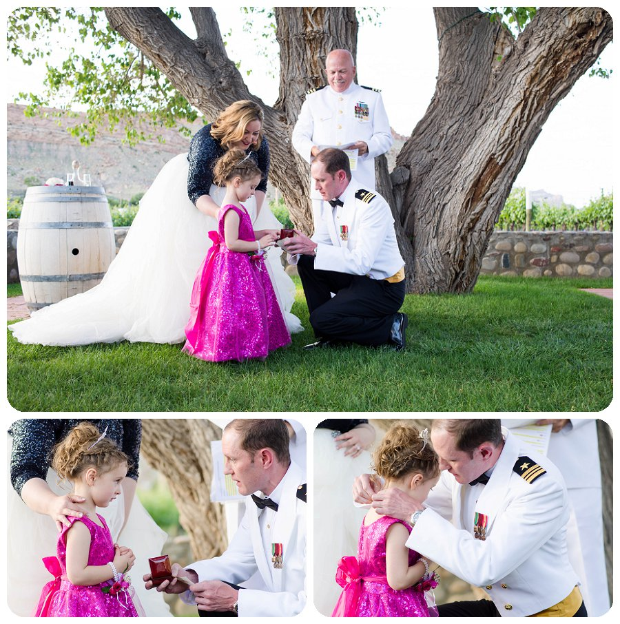 Canyon Wind Cellars Wedding Photography - father daughter necklace exchange