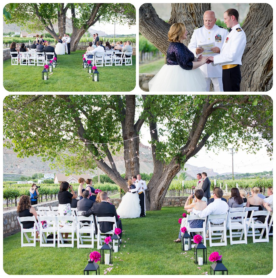 Canyon Wind Cellars Wedding Ceremony Pictures by Rayna McGinnis