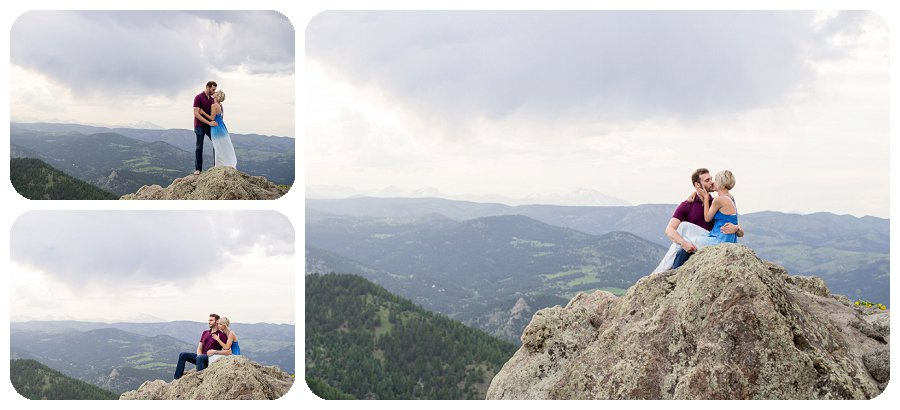 Boulder Engagement Photography at Lost Gulch overlook - Ashley and Kevin
