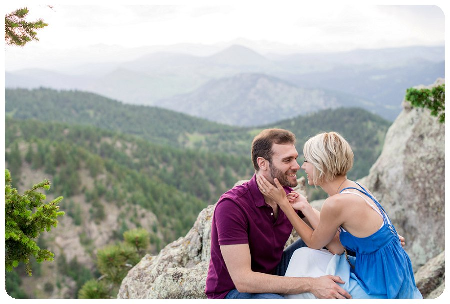 Boulder Engagement Session at Lost Gulch overlook - Ashley and Kevin