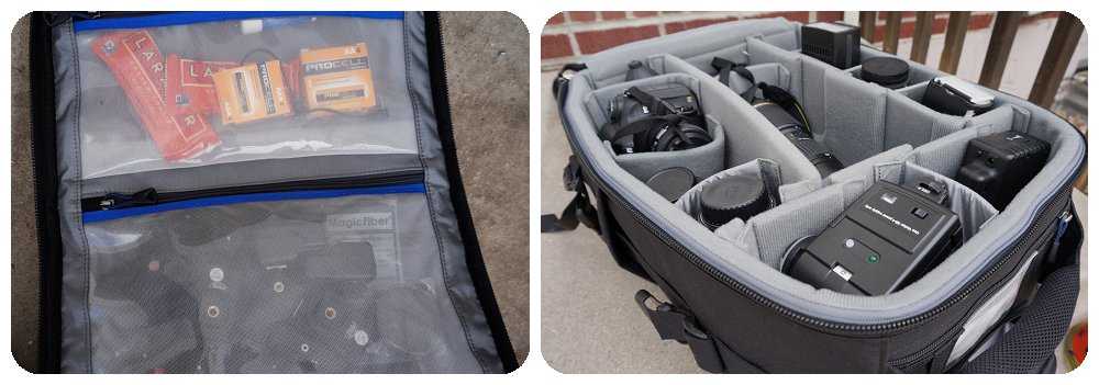 Thinktank Airport TakeOff Rolling Camera bag inside view
