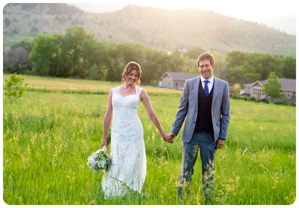 Loveland Wedding Photographer - Couple's Portraits at Sunset by Rayna Mcginnis Photography