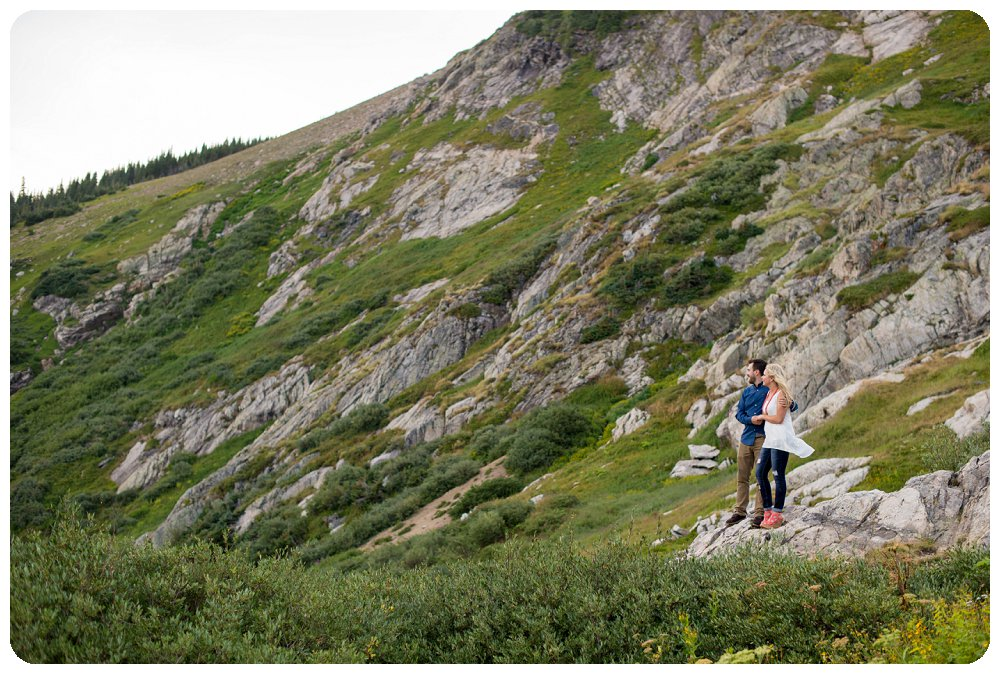 St Marys Glacier Engagement Session - Landscape Shot with Mountains