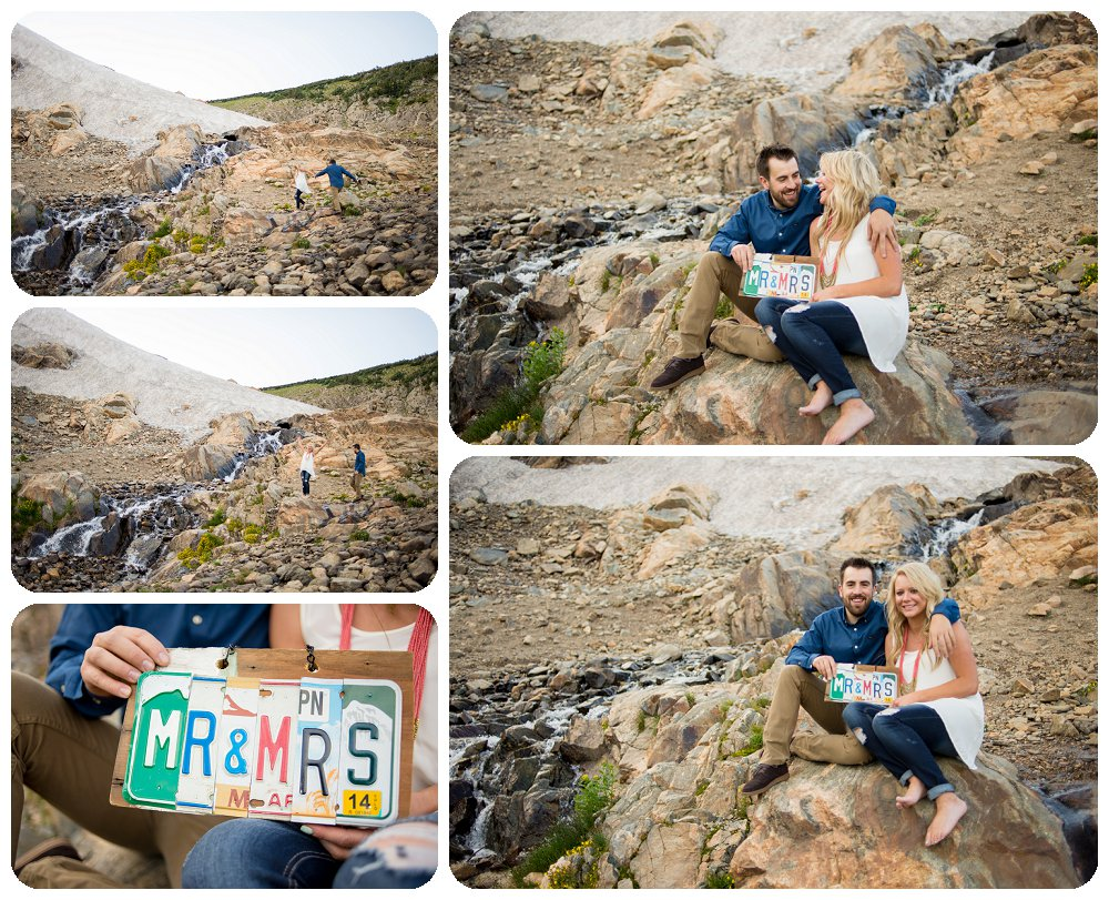 Mr and Mrs Sign at St. Mary's Glacier