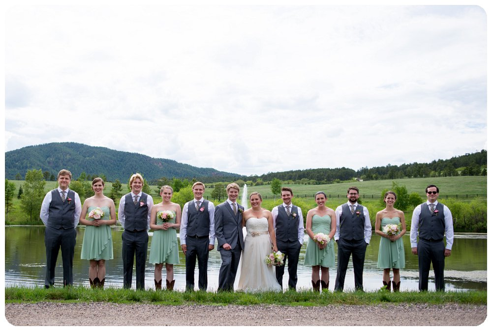 Bridal Party Photos at the Spruce Mountain Guest Ranch in Larkspur, Colorado