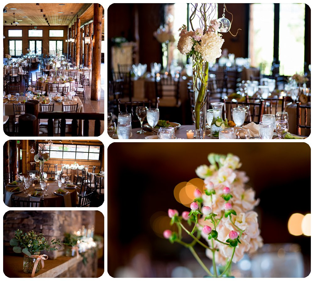 Reception details in Elbert's Lodge