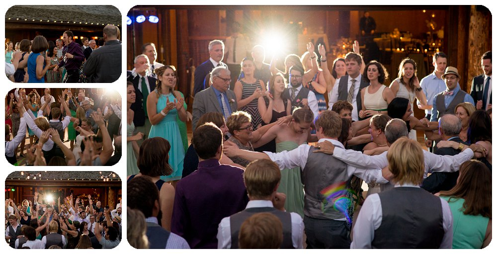Spruce Mountain Guest Ranch Wedding Pictures - Guests Dancing