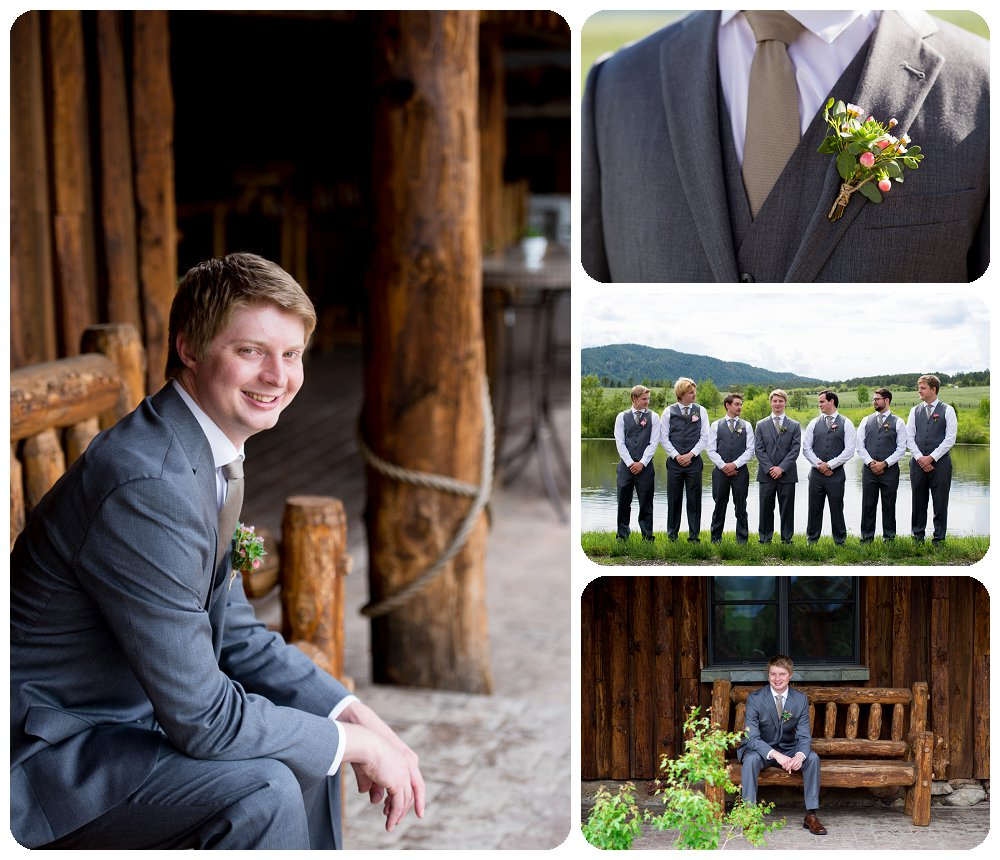 Groom and Groomsmen photos at Spruce Mountain Guest Ranch