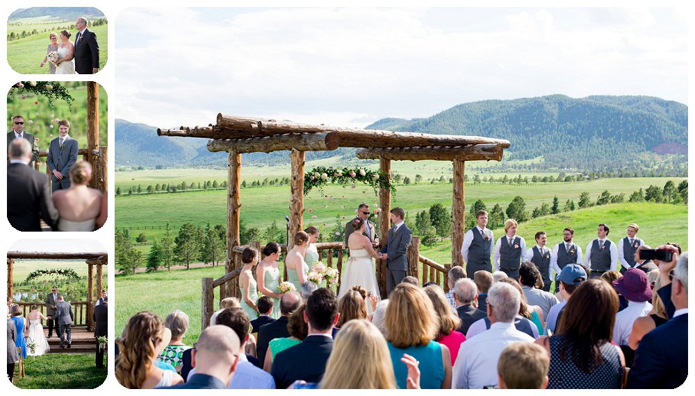 Spruce Mountain Guest Ranch Wedding Pictures - Wedding Ceremony at the Mountainside Arbor.