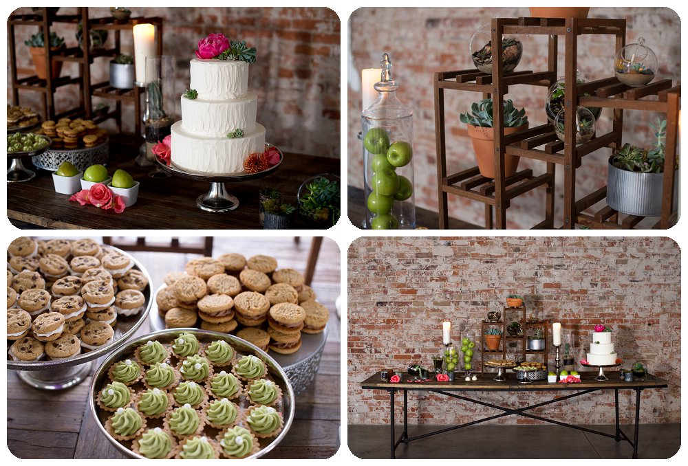 Wedding Cake and dessert table by Yours Truly Cupcakes
