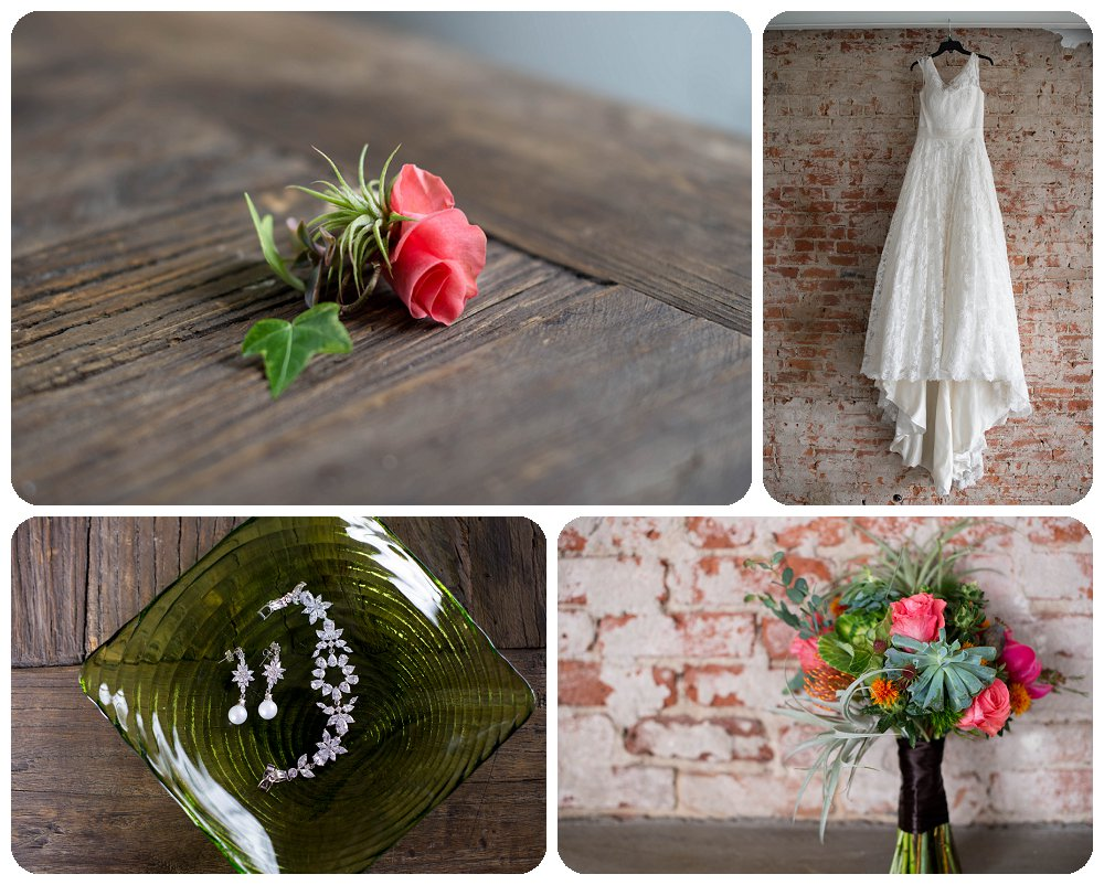 Details from a succulent styled shoot at Blanc in Denver, Colorado