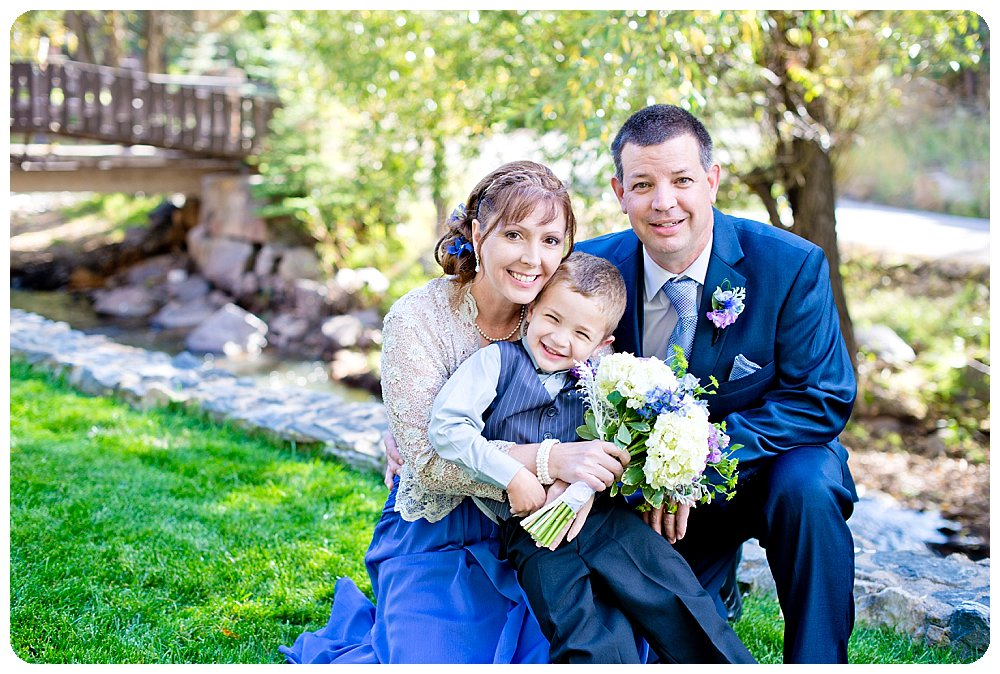 Family photos at an Evergreen, Colorado Wedding at Highland Haven