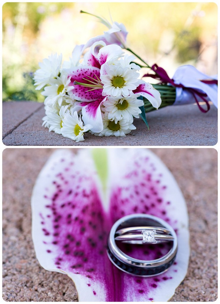 Wedding bouquet by The Holly Berry and Wedding Rings by Tiffany & Co.