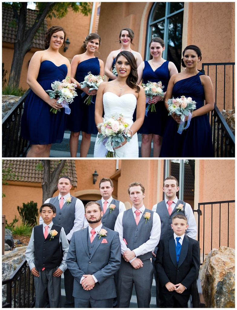 Bridal Party Photos at a Brittany Hill Wedding