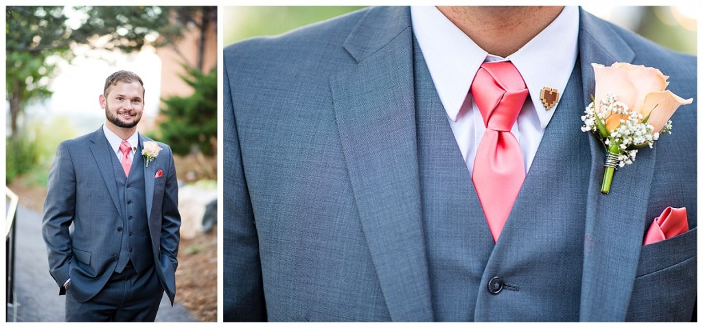 Groom Details at Brittany Hill Wedding
