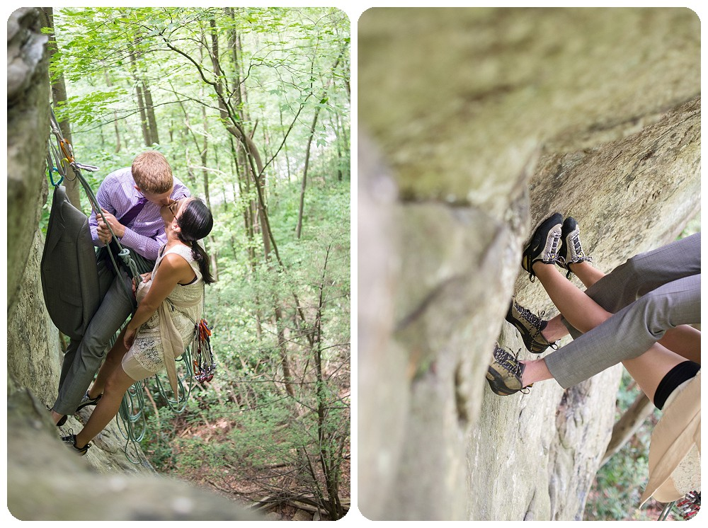 New River Gorge Wedding Photography - Rock Climbing Wedding