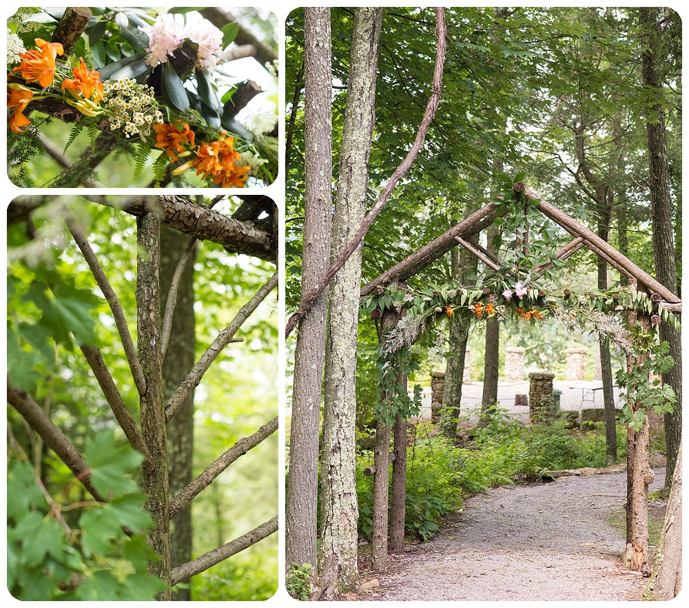 Wild Flower wedding arch - West Virginia