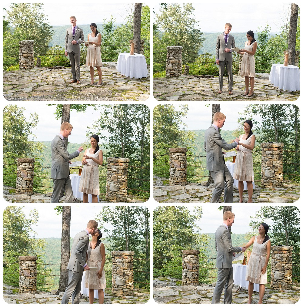 New River Gorge Wedding Photography - ceremony at Confluence resort