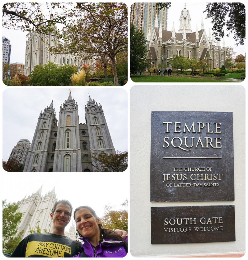 Temple Square in Salt Lake City, Utah.