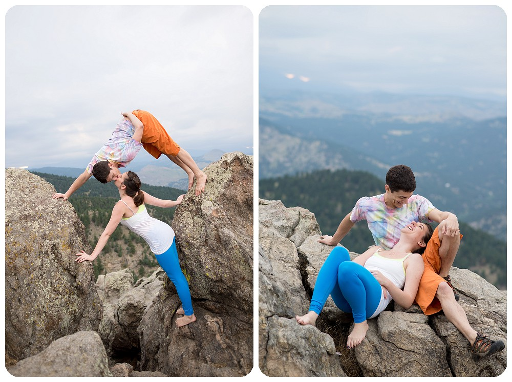 Acro Yoga Engagement Session at Lost Gulch