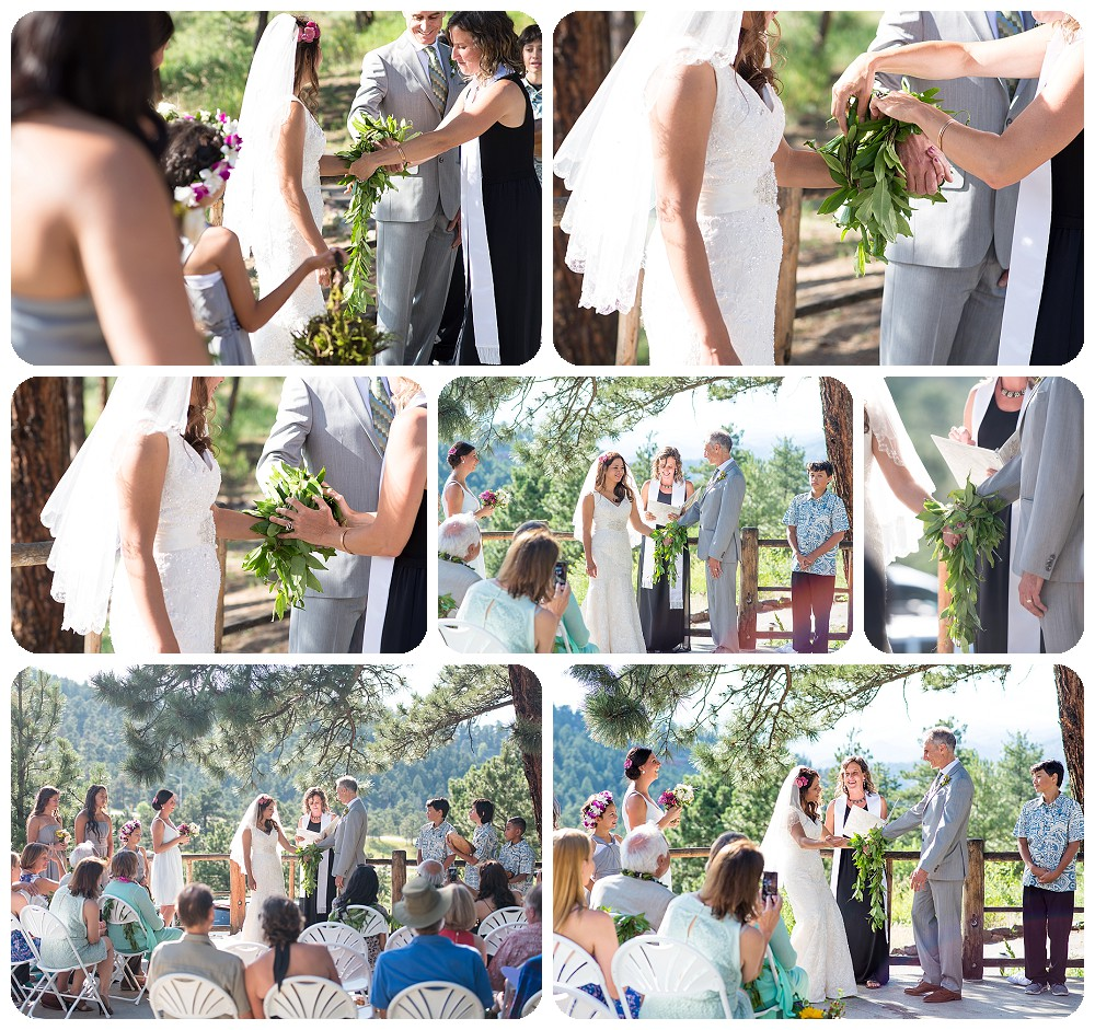 hand fasting ceremony - Chief Hosa Lodge Wedding