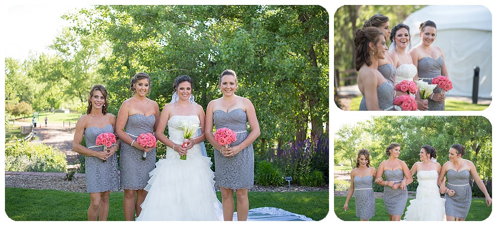 Bridesmaids at Hudson Gardens