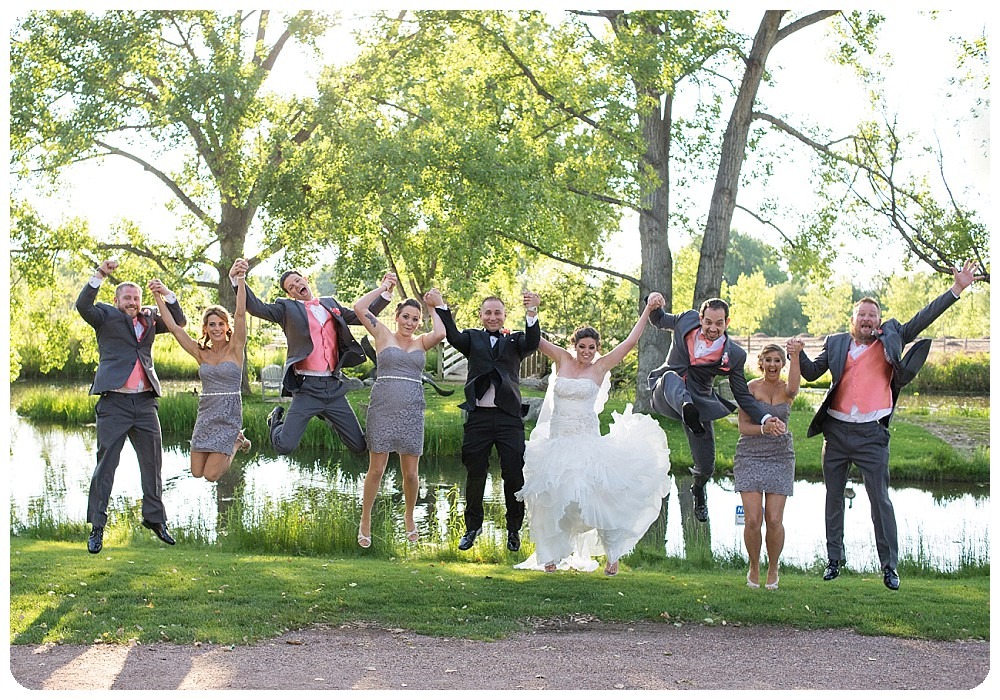 Hudson Gardens Wedding Photographer - fun bridal party photo