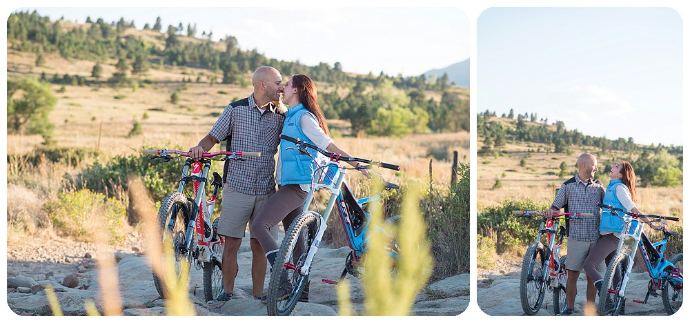Mountain Biking Engagement picture sessions- Rayna McGinnis