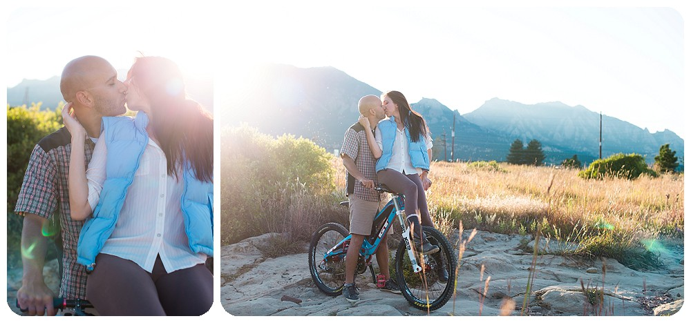 Mountain Biking Engagement Session at sunrise