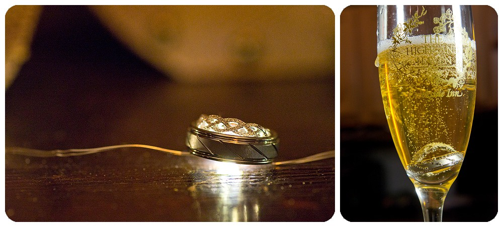 Champagne Wedding Ring Shot with Rings from Shane Co