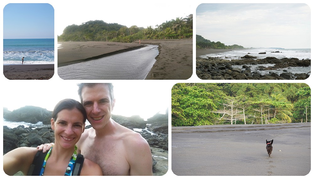 Beach hike at Playa Hermosa