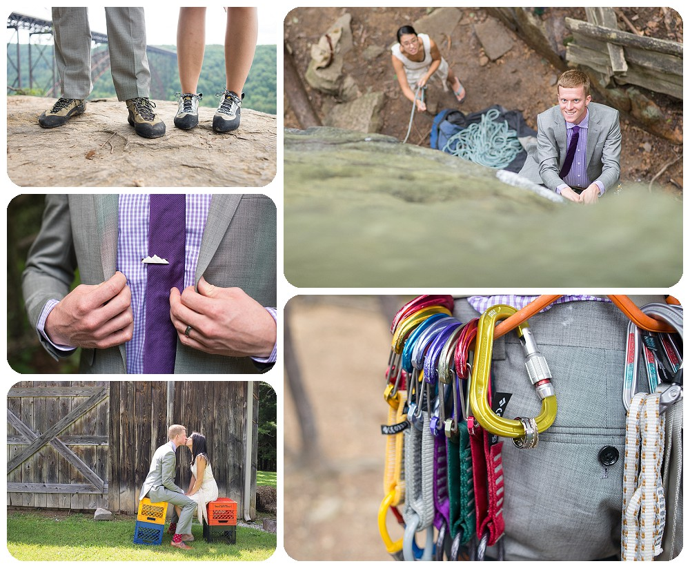 Rock Climbing Wedding at the New River Gorge