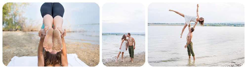 Colorado Engagement Photos at Standley Lake, Acro Yoga Style
