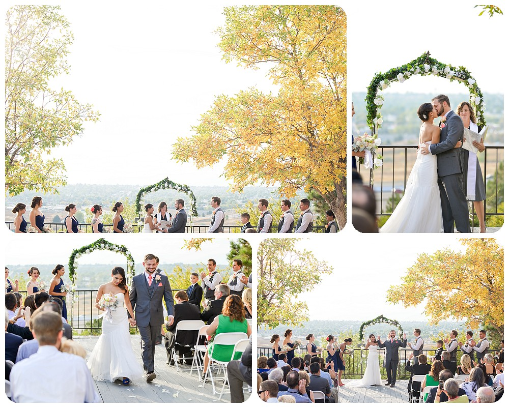 First kiss by Colorado Wedding Photographer, Rayna McGinnis