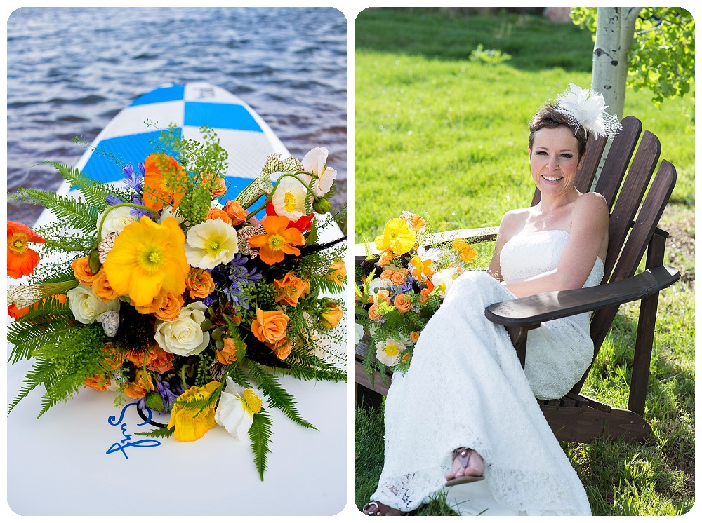 Stand Up Paddle Board Elopement at Spruce Mountain Ranch