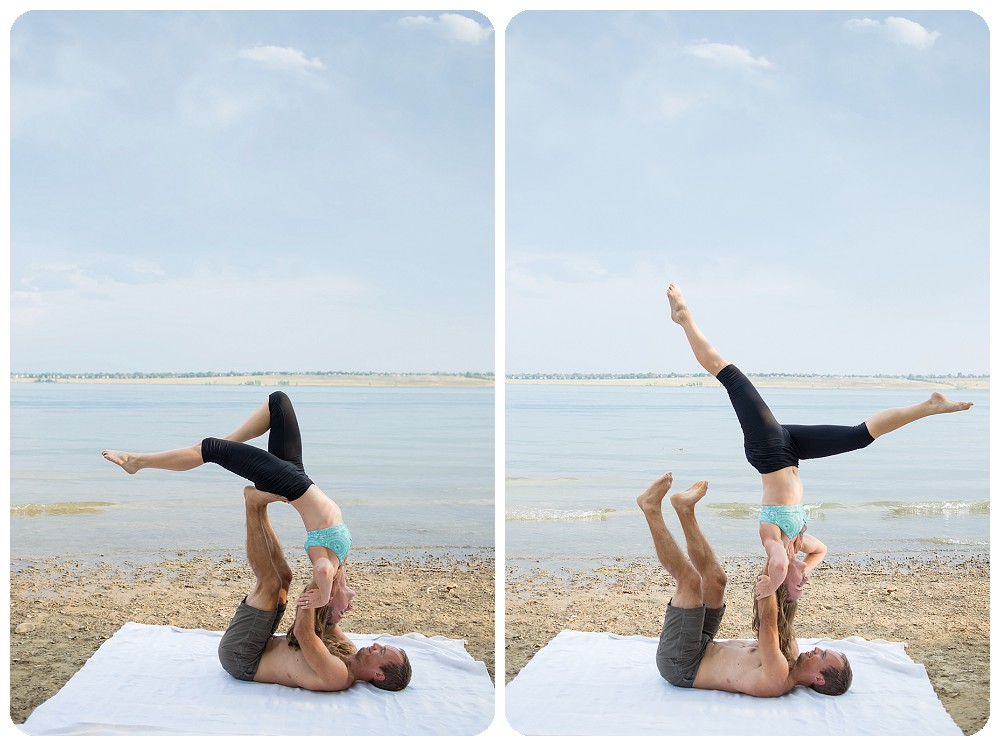 Acro Yoga Engagement Session in Denver, Colorado