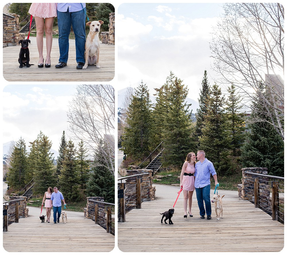 Engagement Session with Dogs in Breckenridge
