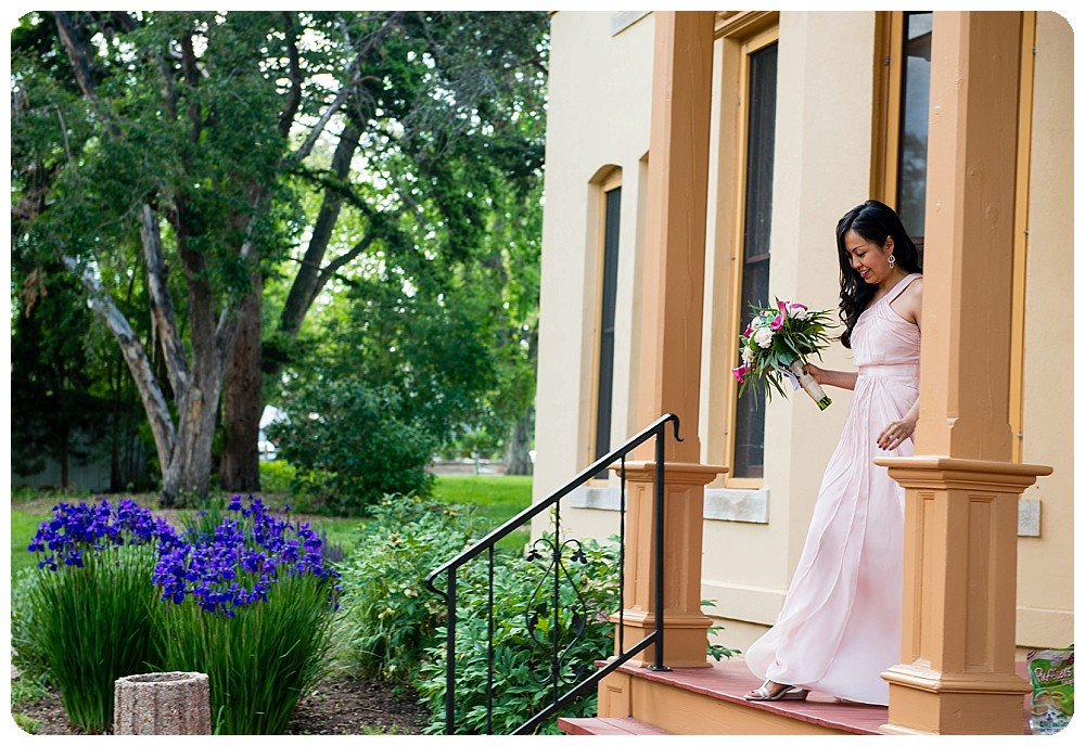 Bride at the Richards Hart Estate for her Denver Elopement
