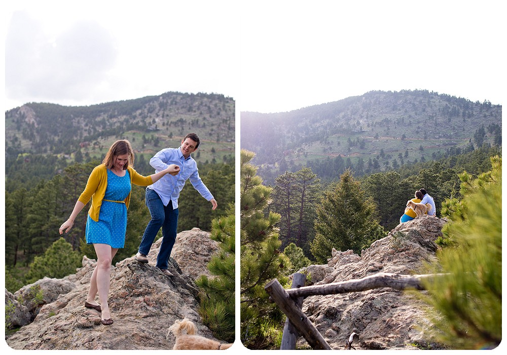 Engagement Session at the Elk Meadow Dog Park