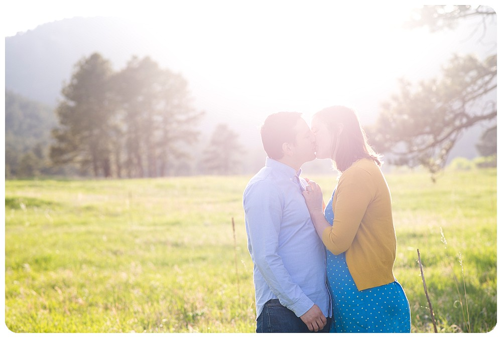 Sunkissed Elk Meadow Engagement Session in Evergreen