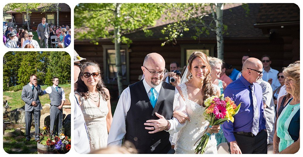 Wedding Ceremony by Conifer Wedding Photographer Rayna McGinnis